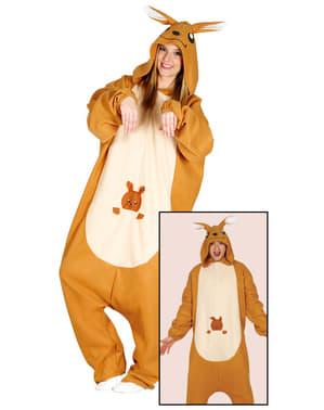 Kangoeroe kostuum onesie voor volwassenen