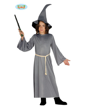 Grey Wizard Costume for Boys
