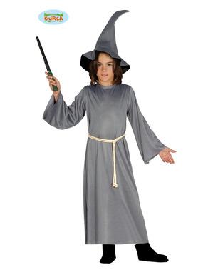 Zauberer Kostüm grau für Jungen