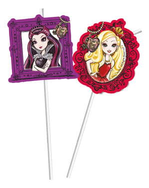 6 Ever After High Straws