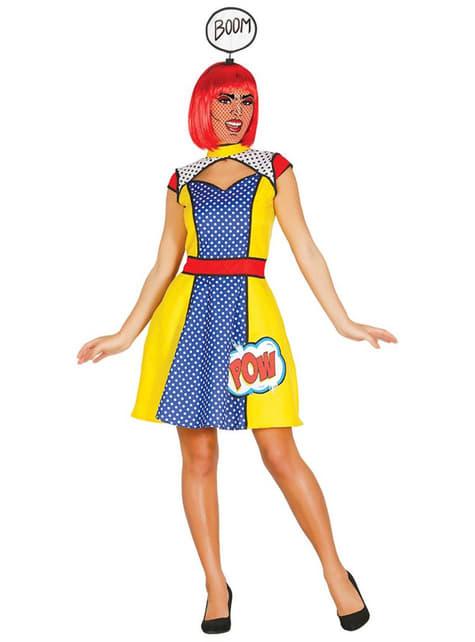 Fato de rapariga Pop Art para mulher