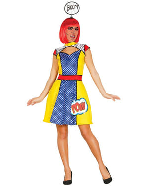 Strój dziewczyna pop art damski