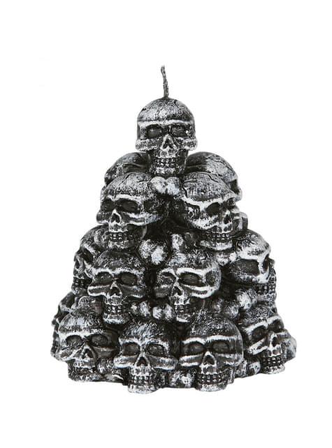 Bougie têtes de mort fantasmatique