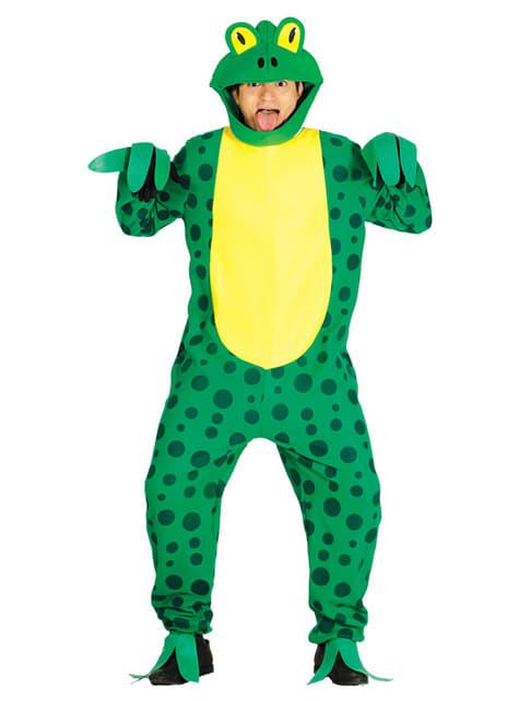 Disfraz de rana verde para adulto