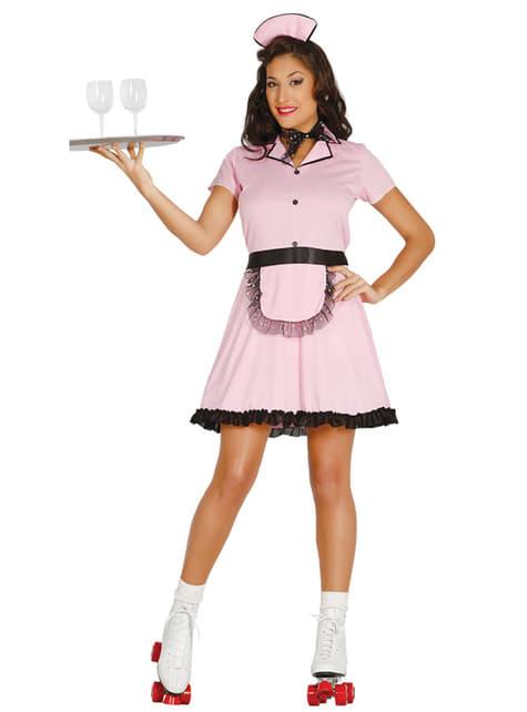Disfraz de camarera retro para mujer