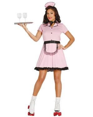 Disfraz años 50 camarera para mujer