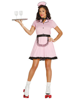 Jaren 50 serveerster kostuum voor vrouwen