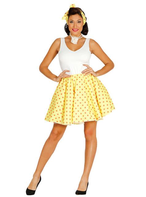 Kit pin up jaune femme