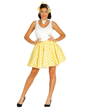 Conjunto pin up amarelo para mulher