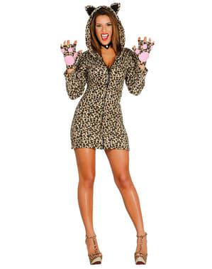 Kostium wyzywający leopard damski