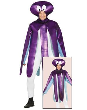 Paarse octopus kostuum voor volwassenen
