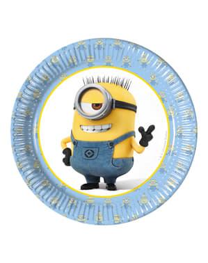 Set 8 borden Minions 20 cm