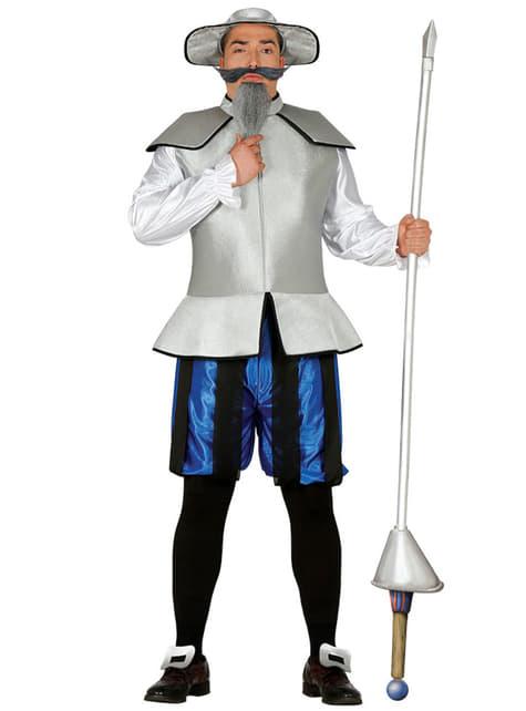 Fato de cavaleiro de La Mancha para homem