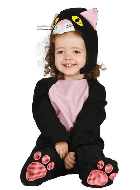 Бебешки костюм за черна котка