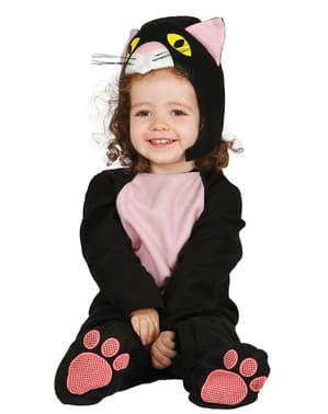 Schwarzes Katzenkostüm für Babys