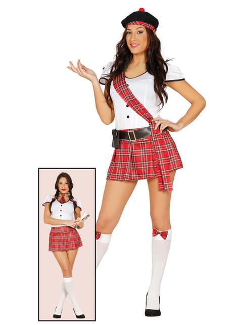 Déguisement écossaise ou étudiante femme