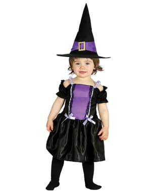 Disfraz de bruja violeta para bebé