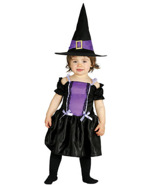 Strój fioletowa czarownica dla niemowląt