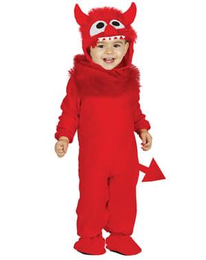 Fato diabo vermelho para bebé