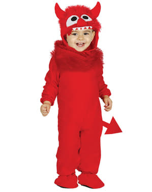 Rødt monsterkostume til babyer