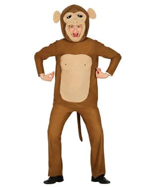 Costume da scimmia divertente per adulto