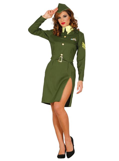 Dámský kostým sexy seržantka