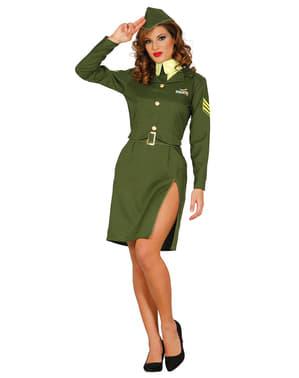 Déguisement sergent sexy femme