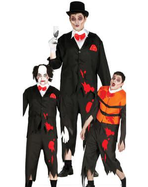 Halloween bloederig bruidegom kostuum voor mannen