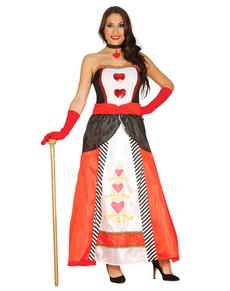 Fato de princesa corações para mulher