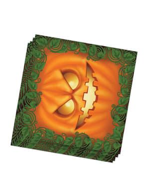20 servilletas calabaza Halloween (33x33 cm)