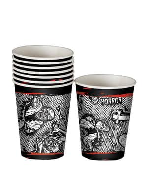 8 Halloween Zombie Cups