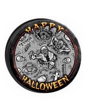 8 pratos Halloween zombie (23 cm)