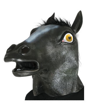 Adult's Black Horse Mask
