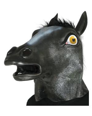 Zwart paard masker voor volwassenen