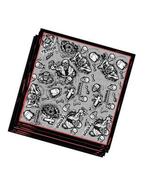 20 Serviettes en papier Halloween zombie (33x33 cm)