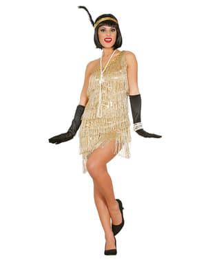 Gouden charleston kostuum voor vrouwen