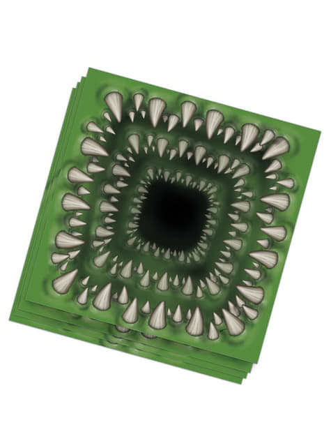 20 servilletas de mordisco mutante (33x33 cm)