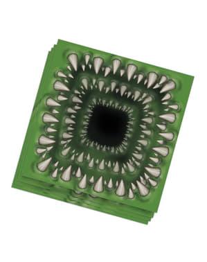 20 Serviettes en papier morsure mutante (33x33 cm)