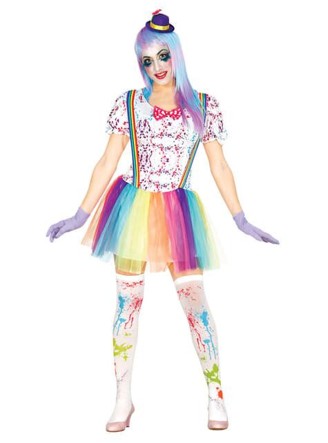 Déguisement clown multicolore femme