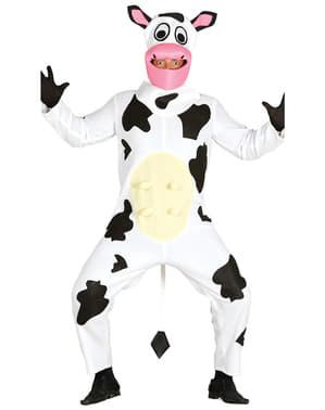 Fato de vaca leiteira para adulto