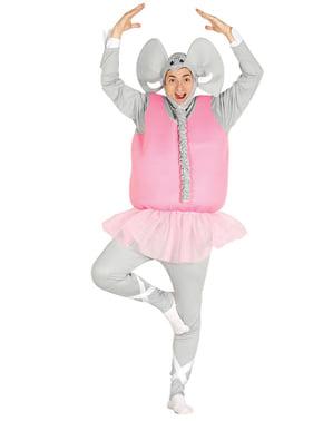 Costume da elefante ballerino per adulto
