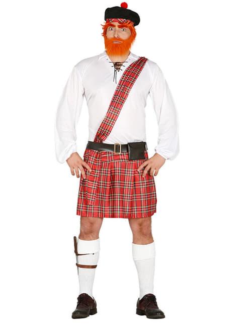 Disfraz de escocés tradicional para hombre