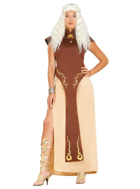 Disfraz de reina de los dragones para mujer