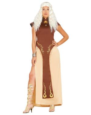 Drakenkoningin kostuum voor vrouw