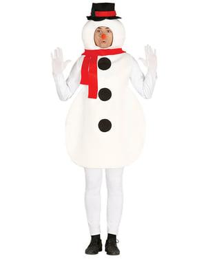 Costume da pupazzo di neve divertente per uomo