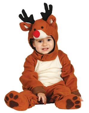 Fato de rena adorável para bebé