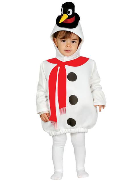 Ontdeugende sneeuwpop Kostuum voor baby's