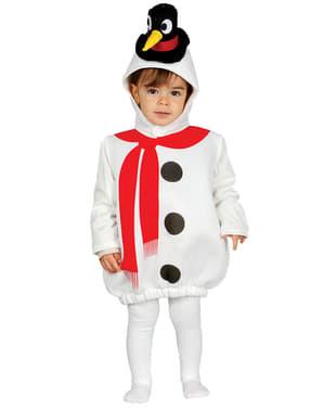 Fato de boneco de neve traquina para bebé