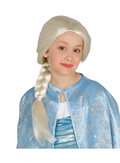 Peluca de princesa del hielo para niña