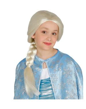 Peruca de princesa do gelo para menina